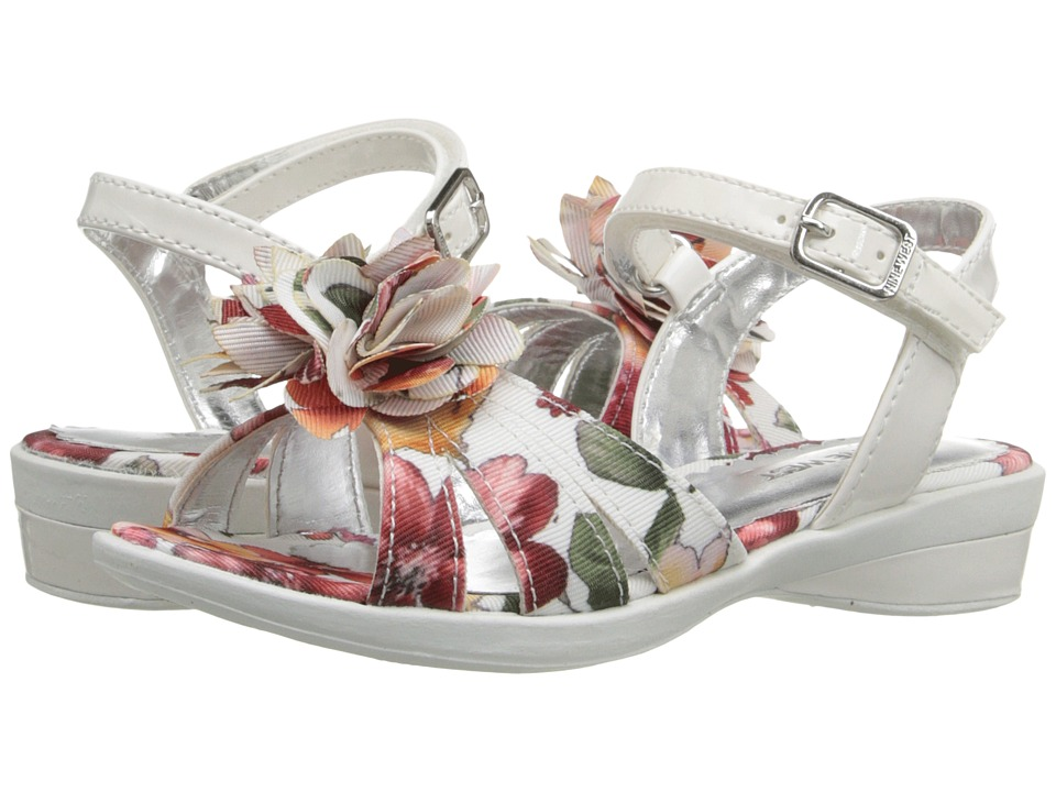 Nine West Kids - Even (Toddler/Little Kid) (White Floral) Girl's Shoes