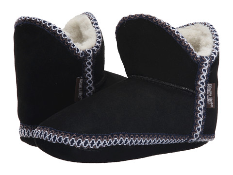 MUK LUKS - Suede Slipper (Black) Women