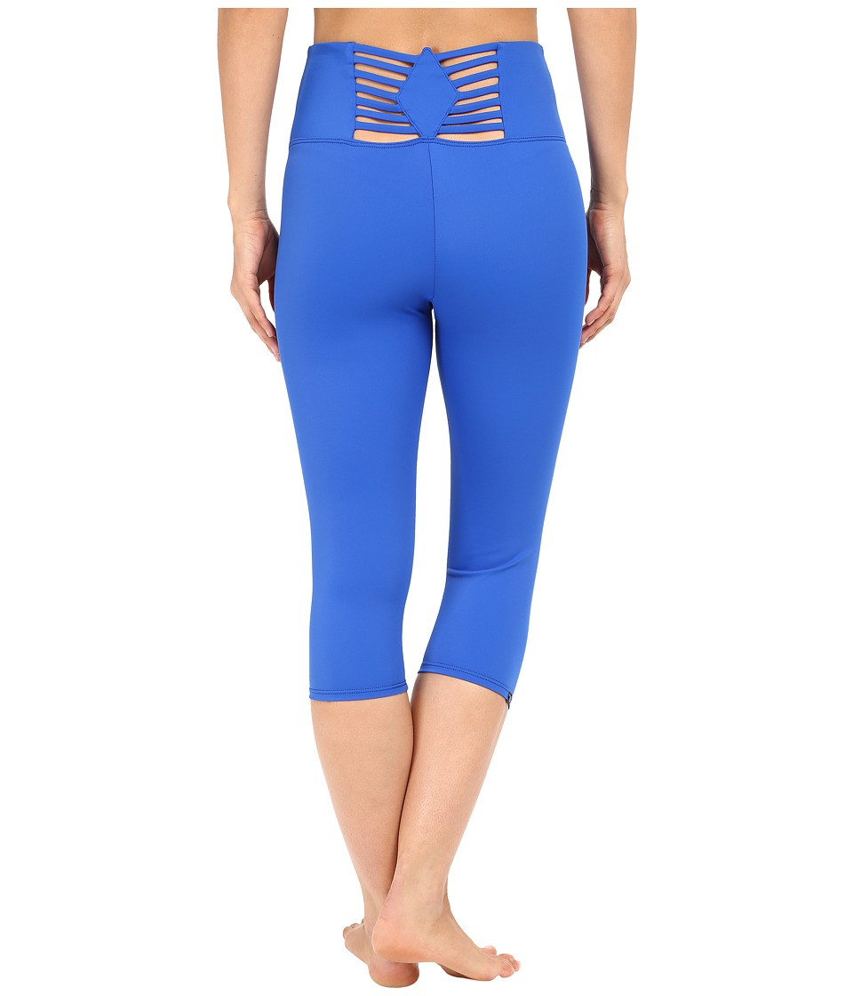 Onzie - Sunray Back Capris (Deep Royal) Women's Capri