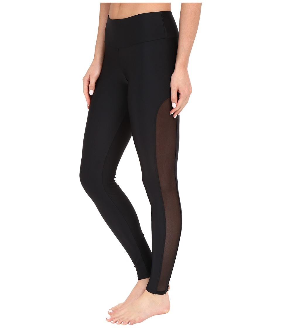 Onzie - Black Tuxedo Leggings (Black/Black Mesh) Women's Casual Pants