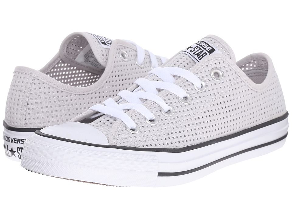 Converse - Chuck Taylor All Star Perf'd Canvas Ox (Mouse/White/Black) Women's Lace up casual Shoes