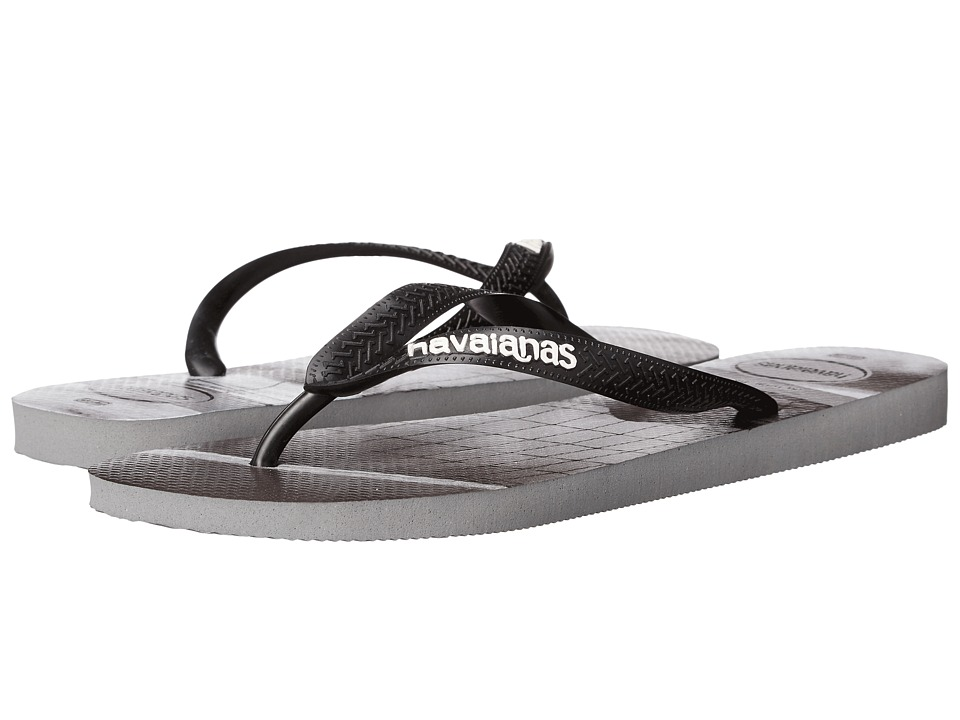 Havaianas - Hype Flip Flops (Steel Grey/Black) Men's Sandals