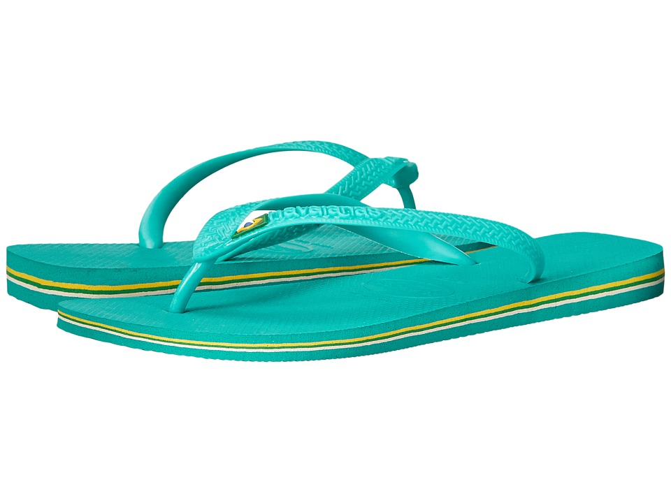 Havaianas - Brasil Flip Flops (Lake Green/Lake Green) Men's Sandals