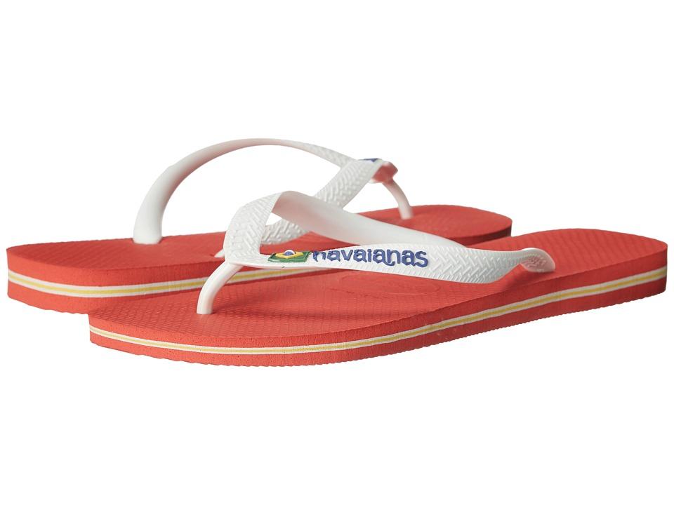 Havaianas - Brazil Logo Flip Flops (Pumpkin) Men's Sandals