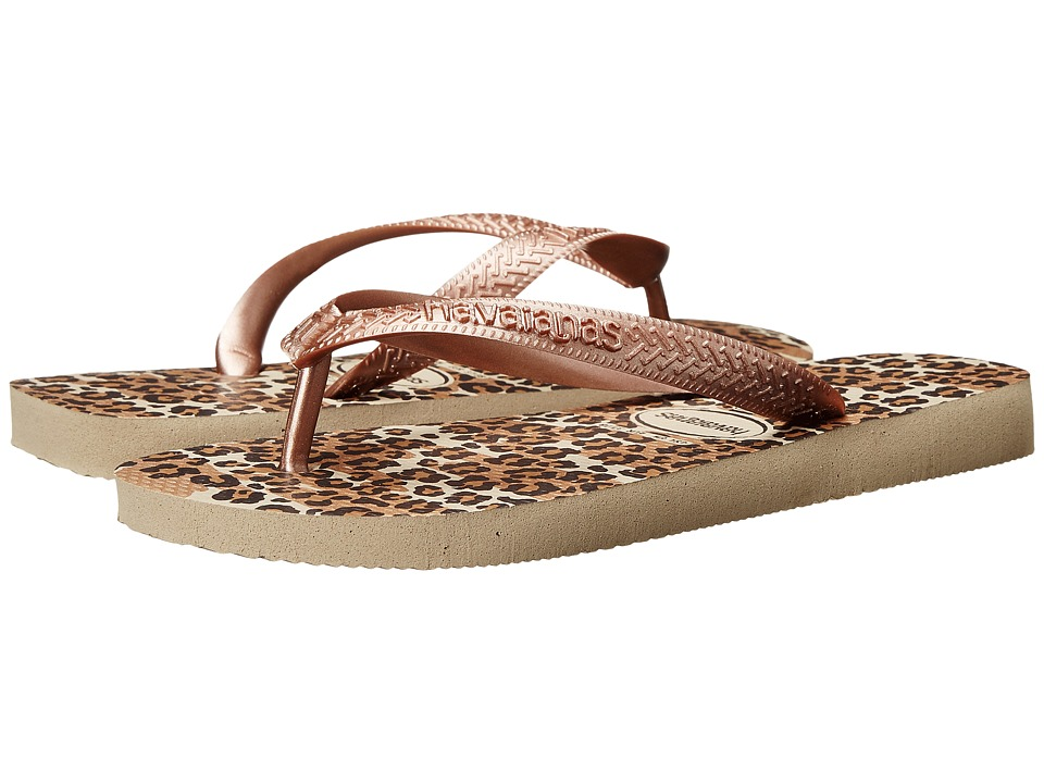 Havaianas - Top Animals Flip Flops (Sand Grey) Women's Sandals