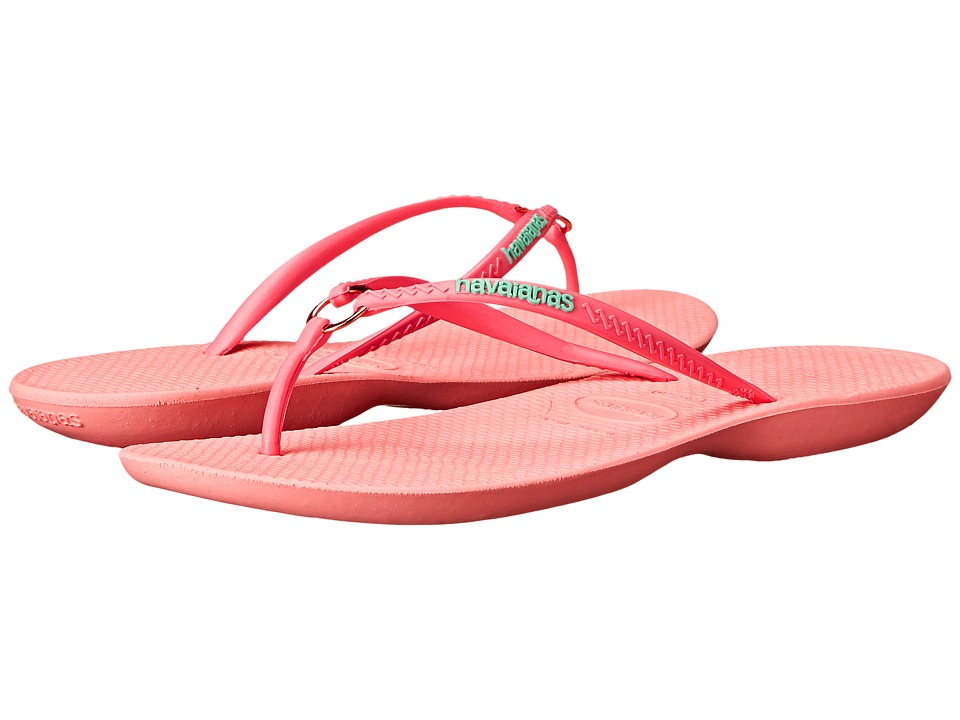 Havaianas Ring Flip Flops (Light Rose) Women