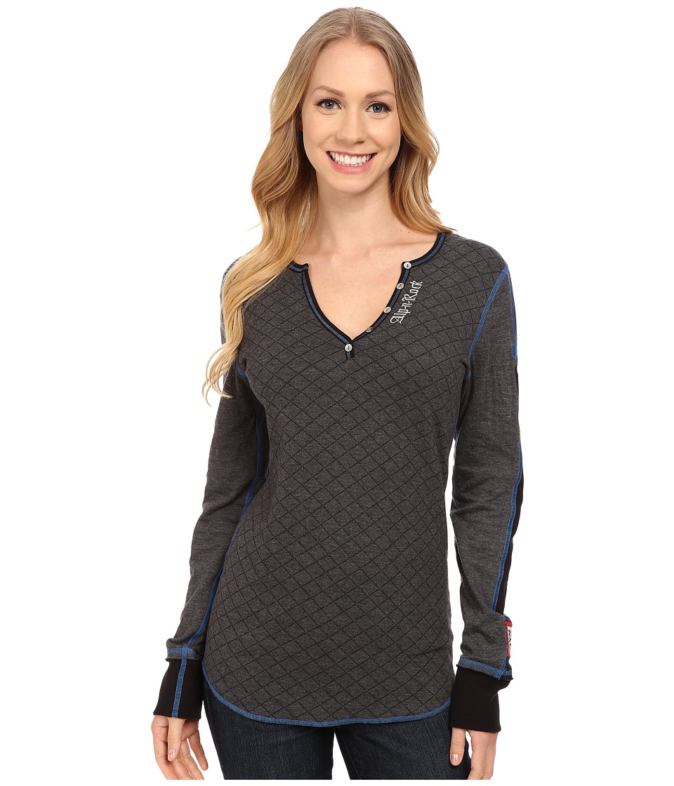 Image of Alp-n-Rock - Ski Henley (Heather Black) Women's Long Sleeve Pullover