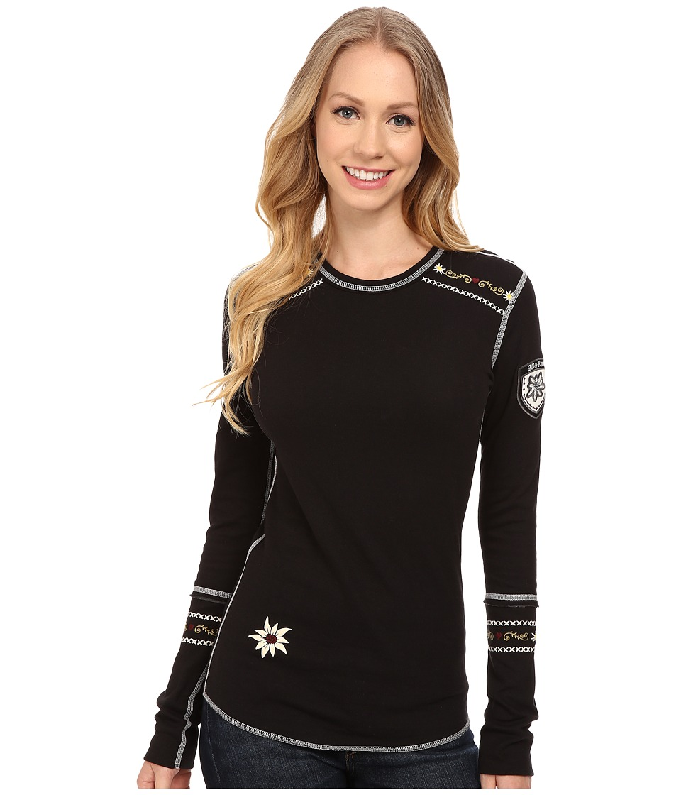 Alp-n-Rock - Slopeside Crew (Black) Women's Short Sleeve Pullover