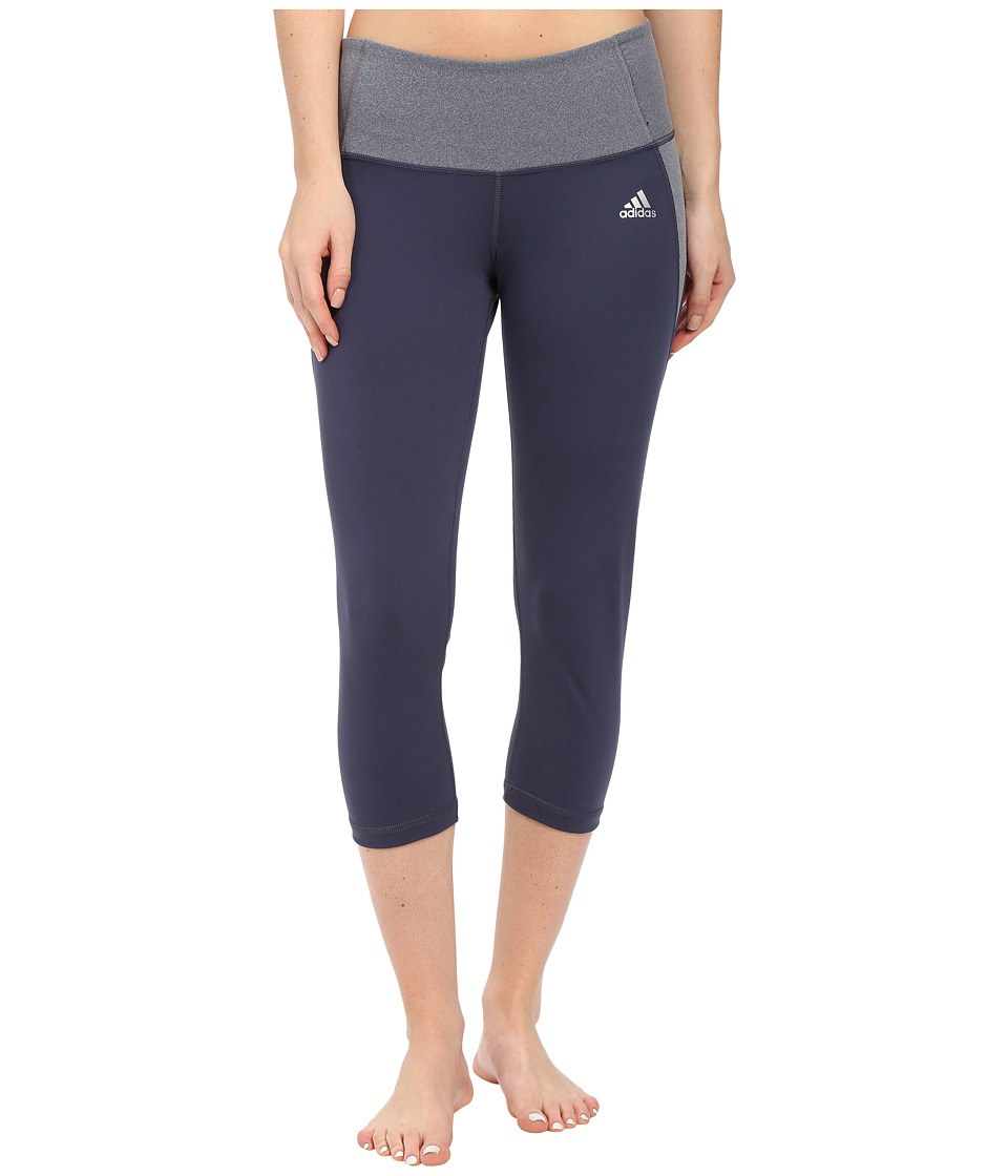 adidas - Clima Essentials 3/4 Tights (Midnight Grey F15) Women