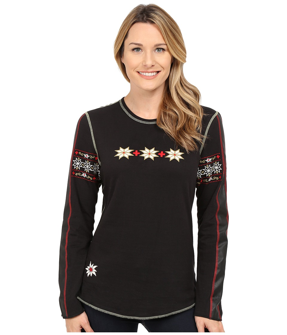 Alp-n-Rock - Vintage Cross Crew (Black) Women