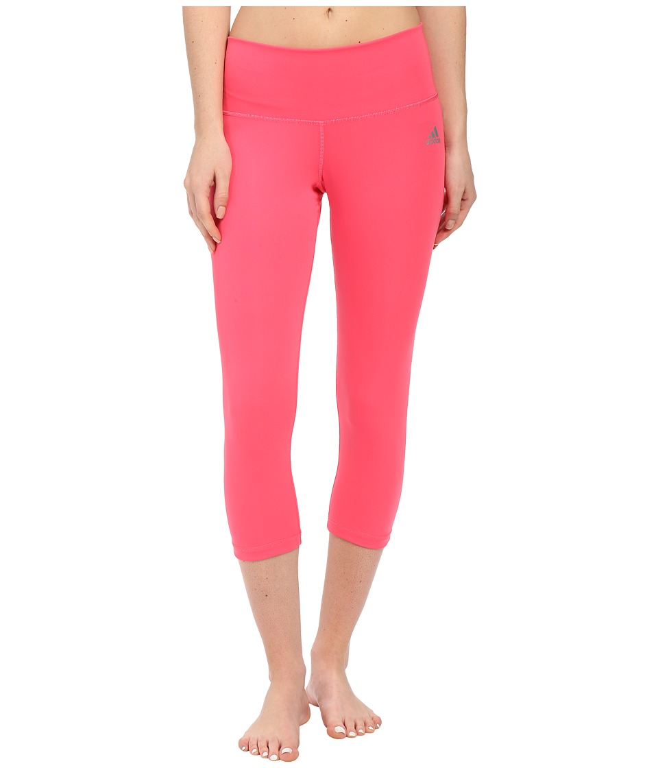 adidas - Performer Mid-Rise 3/4 Tights (Super Pink) Women's Workout