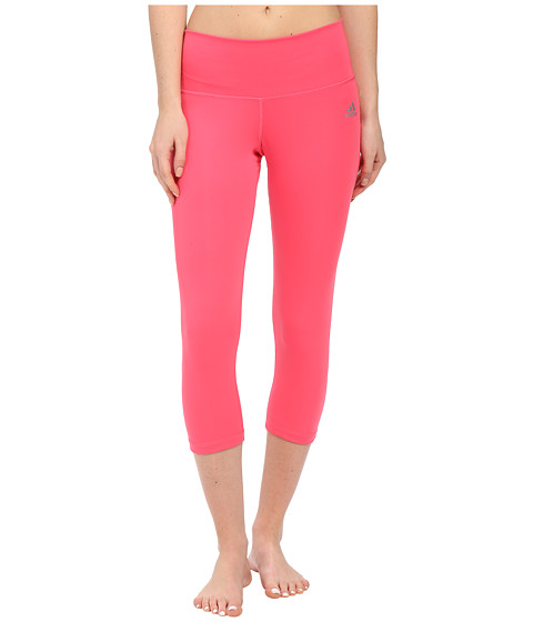 adidas - Performer Mid-Rise 3/4 Tights (Super Pink) Women