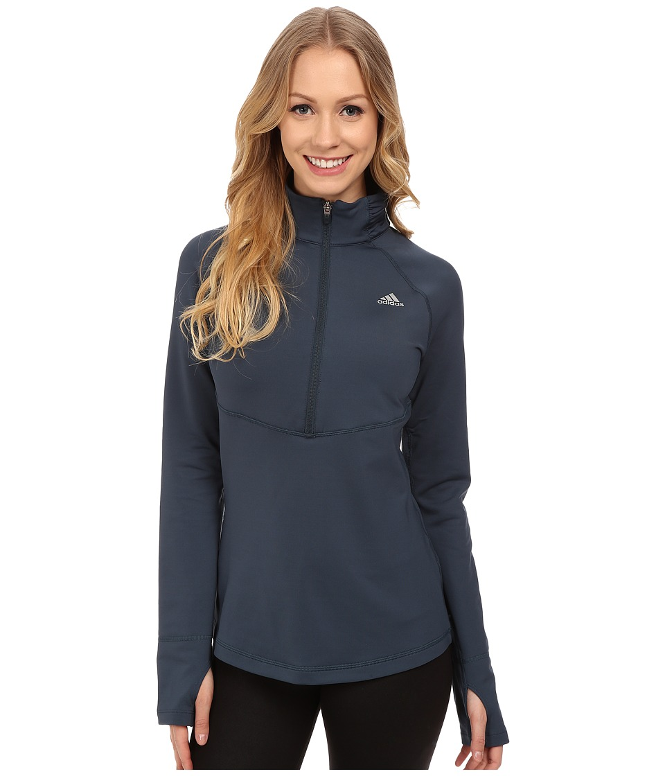 adidas - Techfit Cold Weather 1/2 Zip (Midnight F15) Women's Clothing