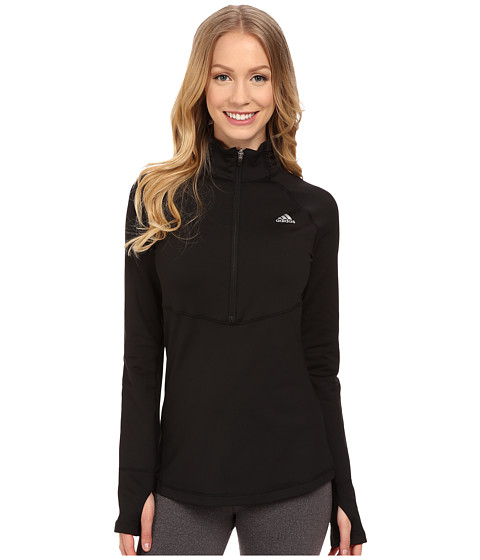 adidas - Techfit Cold Weather 1/2 Zip (Black) Women's Clothing