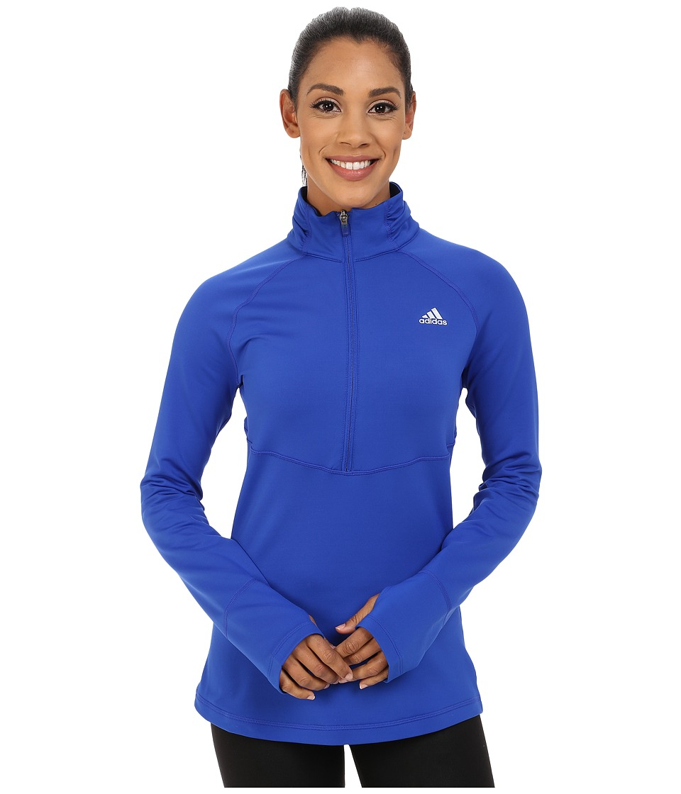 adidas - Techfit Cold Weather 1/2 Zip (Bold Blue) Women's Clothing
