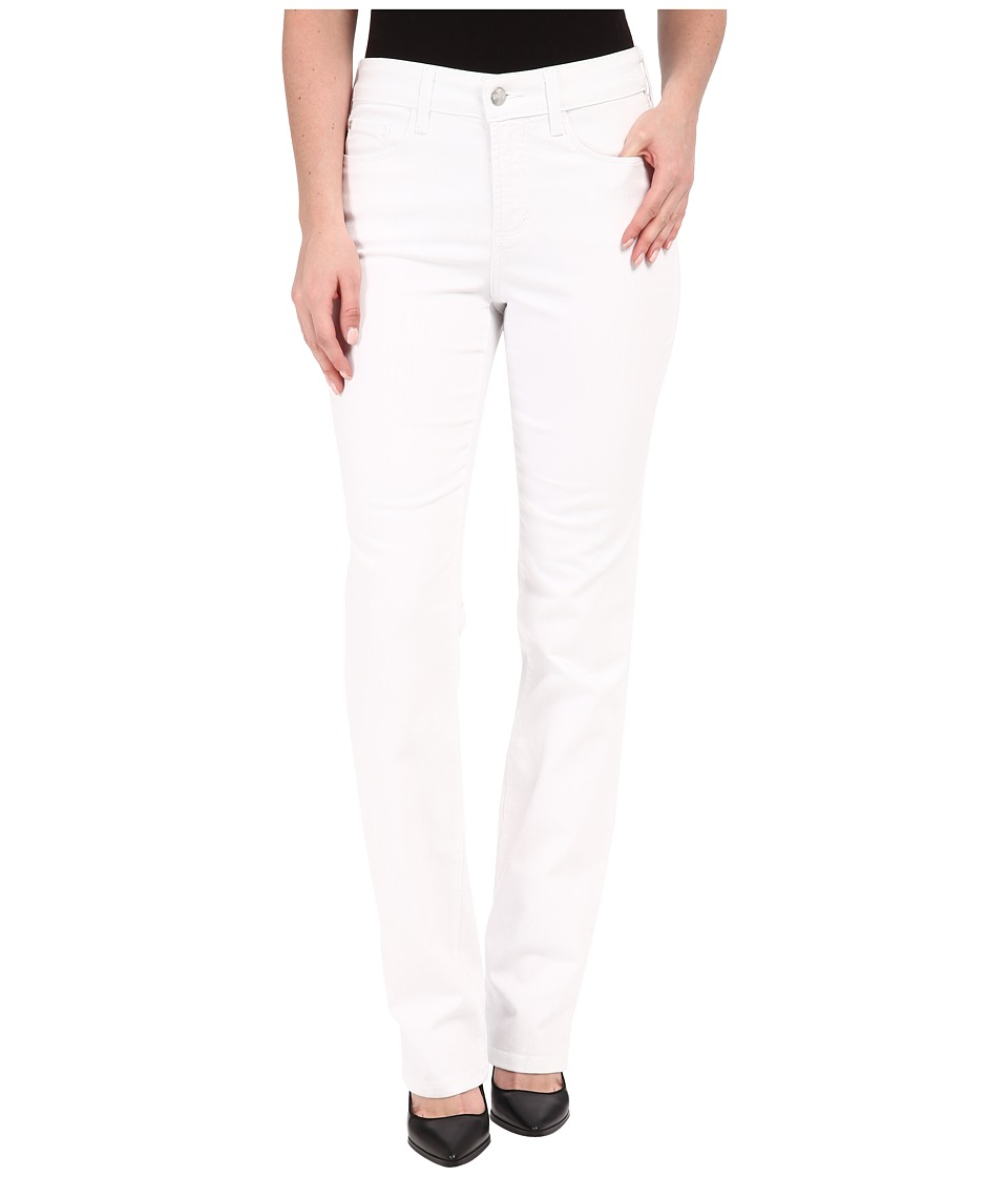NYDJ - Marilyn Straight Jeans in Optic White (Optic White) Women's Jeans