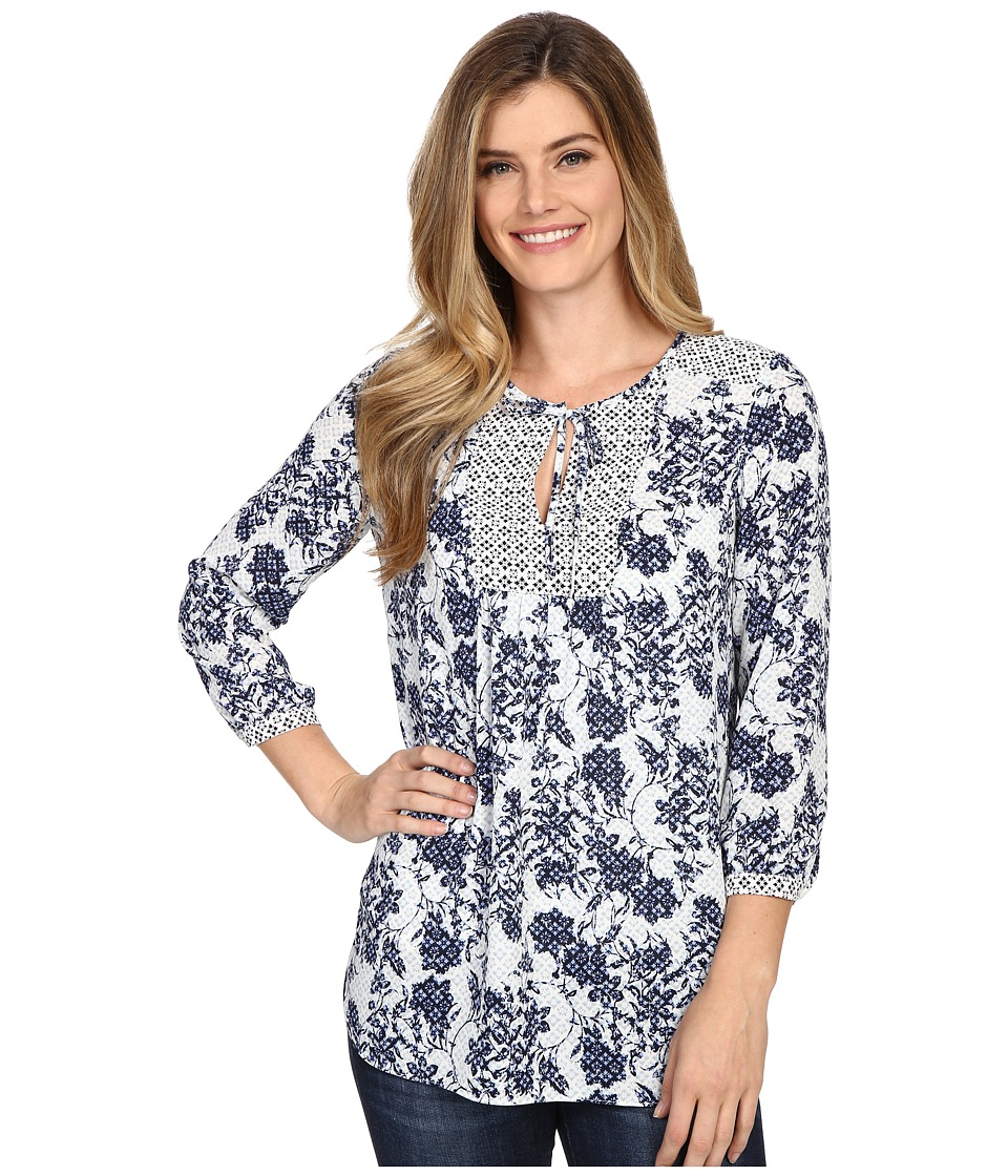 NYDJ - Mixed Print Peasant Blouse (Gloria Floret B) Women's Blouse