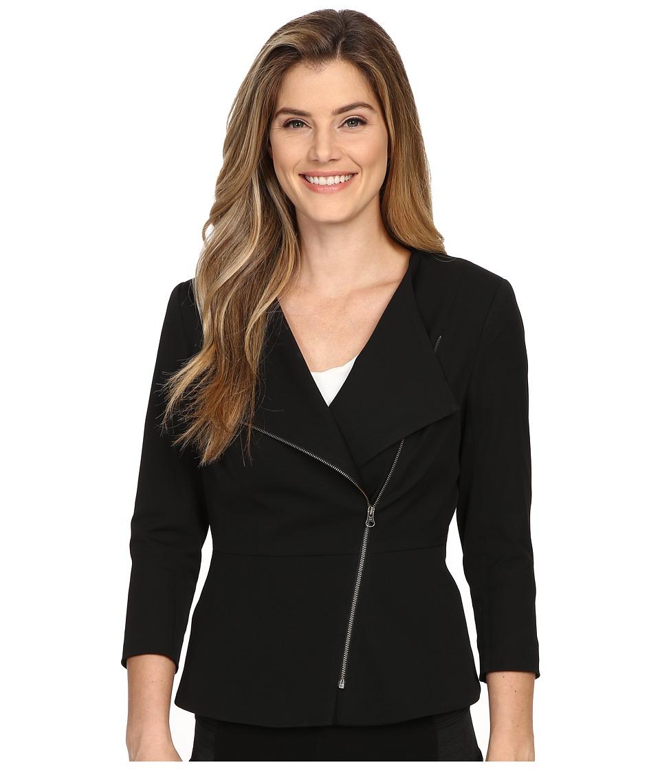 NYDJ - Moto Jacket (Black) Women's Coat