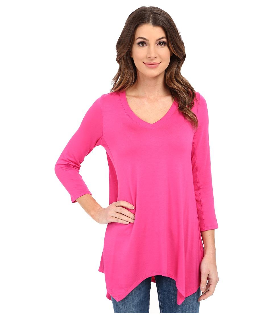 NYDJ - Novelty Scarf Hem Top (Fuchsia Rose) Women's T Shirt