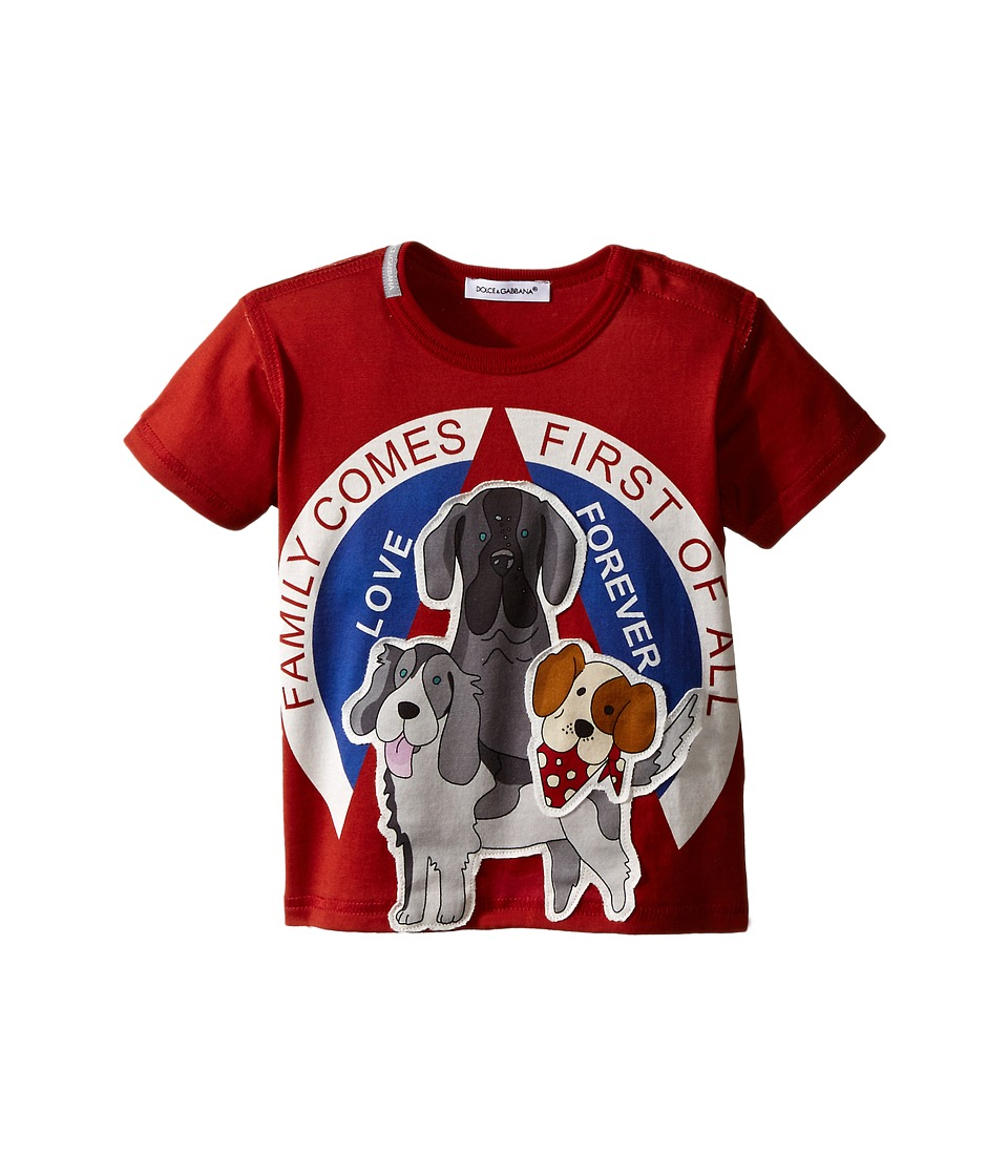 Dolce & Gabbana Kids - Dog Family T-Shirt (Infant) (Red) Boy's T Shirt