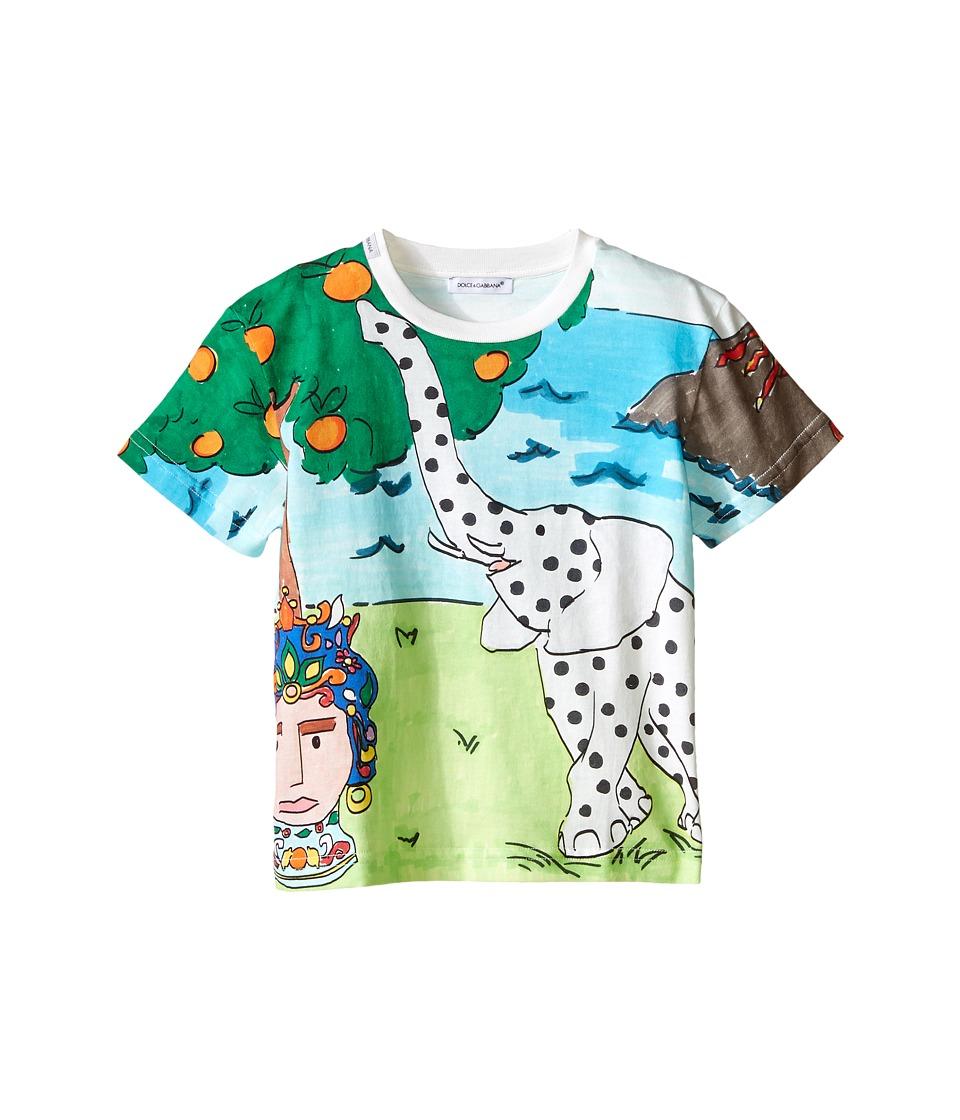 Dolce & Gabbana Kids - Elephant T-Shirt (Toddler/Little Kids) (Multi) Boy's Short Sleeve Pullover