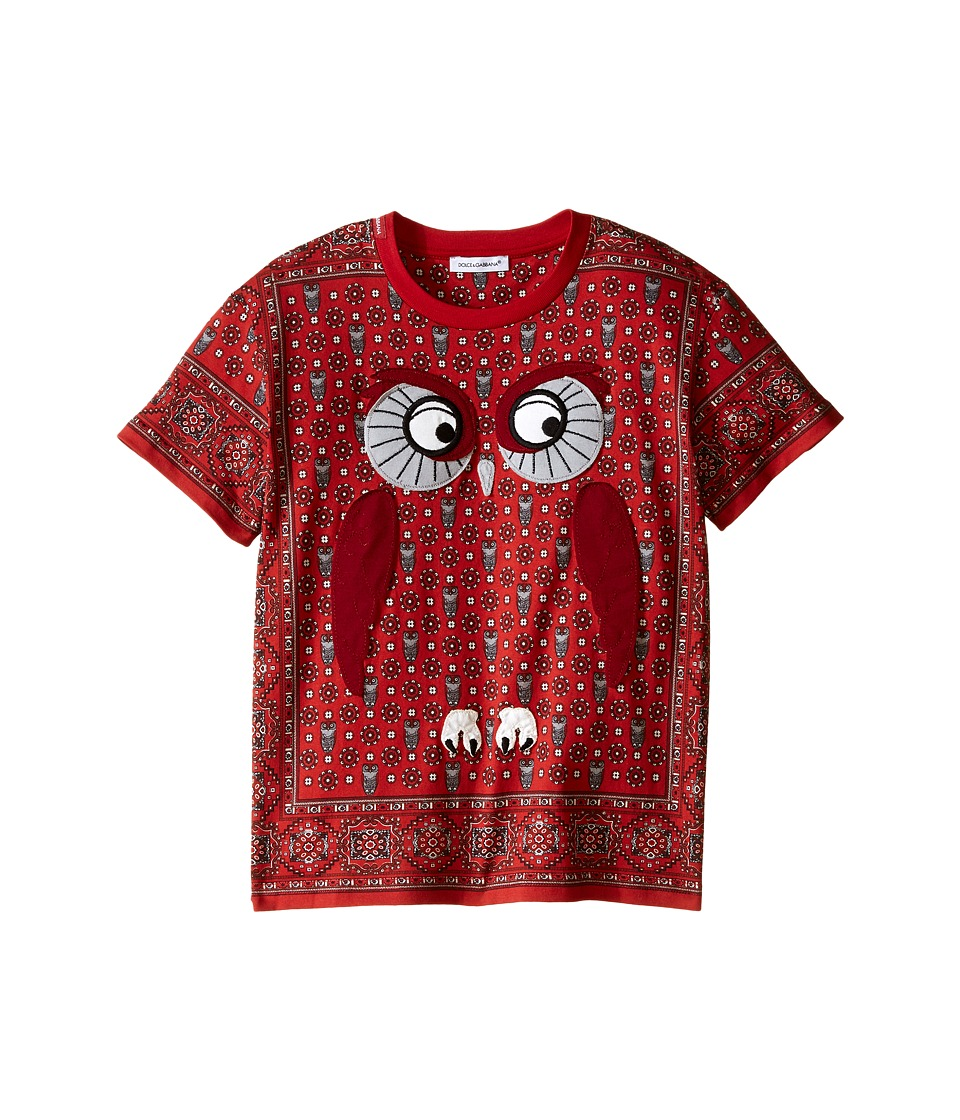 Dolce & Gabbana Kids - Owl T-Shirt (Toddler/Little Kids) (Red) Boy's T Shirt