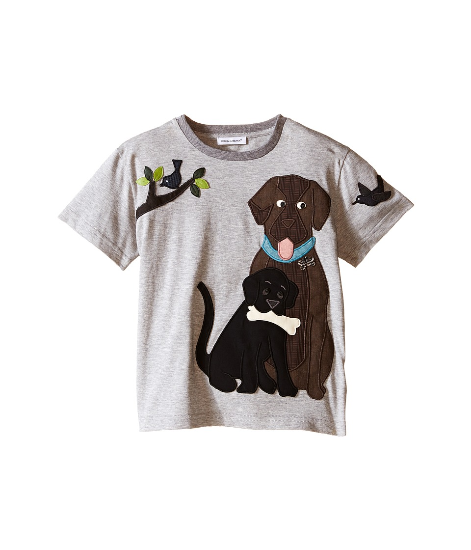 Dolce & Gabbana Kids - Dog Family T-Shirt (Toddler/Little Kids) (Grey) Boy's T Shirt