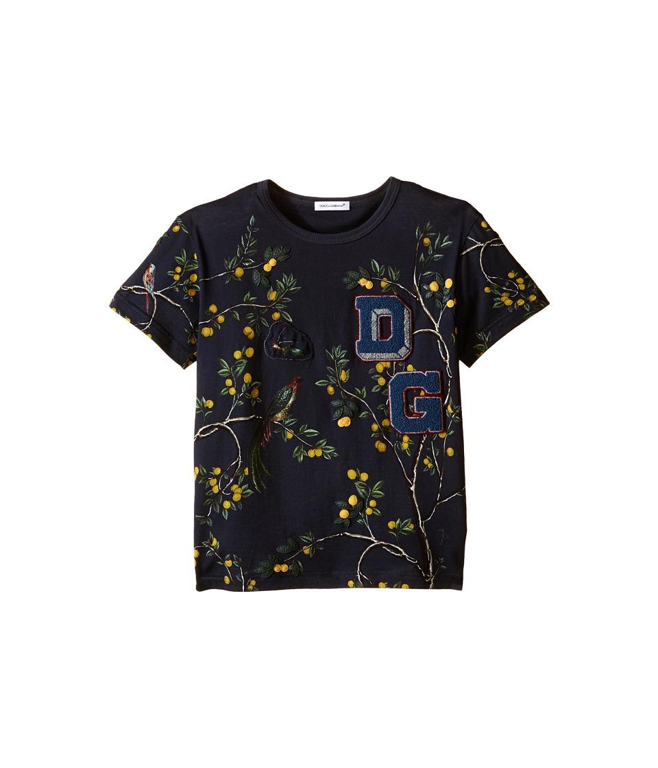 Dolce & Gabbana Kids - Limoni T-Shirt (Toddler/Little Kids) (Navy) Boy's T Shirt