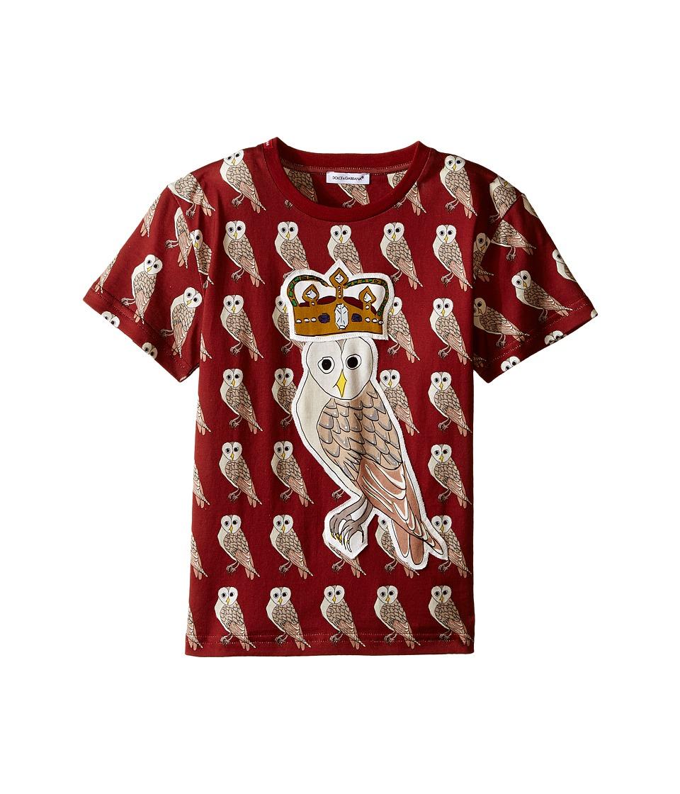 Dolce & Gabbana Kids - Owl King T-Shirt (Toddler/Little Kids) (Red) Boy's T Shirt