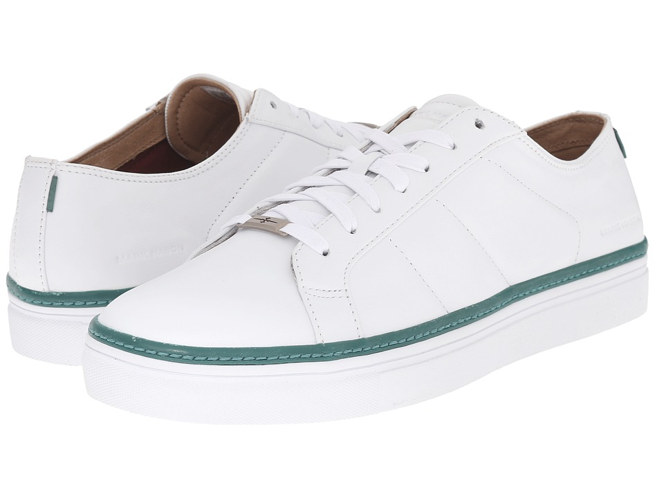 Mark Nason - Holt (White Leather/Green Pin/White Bottom) Men's Lace up casual Shoes