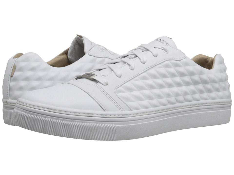 Mark Nason - Montana (White Leather/White Bottom) Men's Lace up casual Shoes