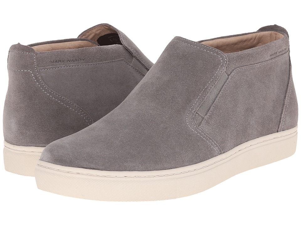 Mark Nason - Banning (Charcoal Suede/White Bottom) Men's Slip on Shoes