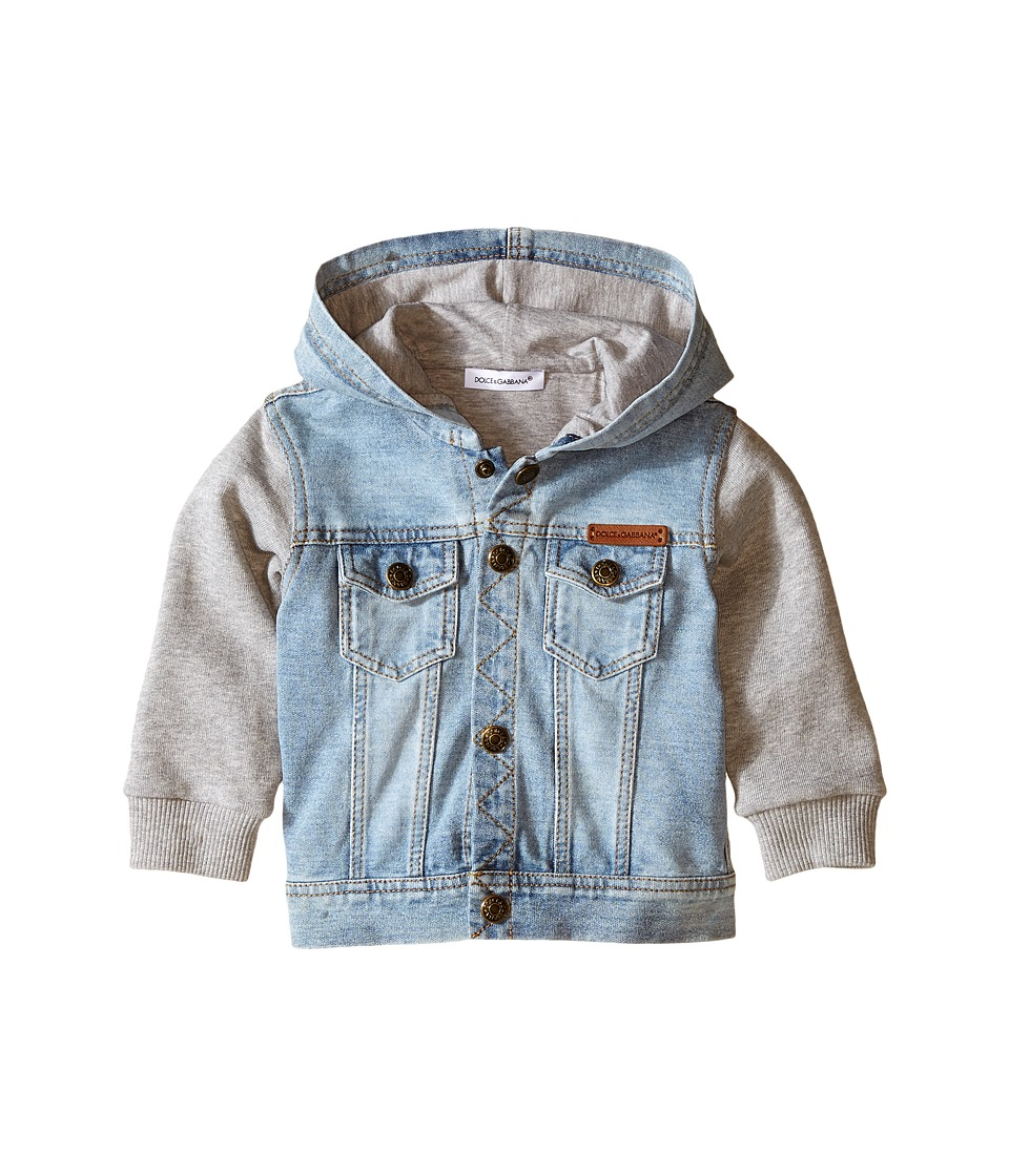 Dolce & Gabbana Kids - Denim/Sweat Hoodie (Infant) (Blue) Boy's Jacket