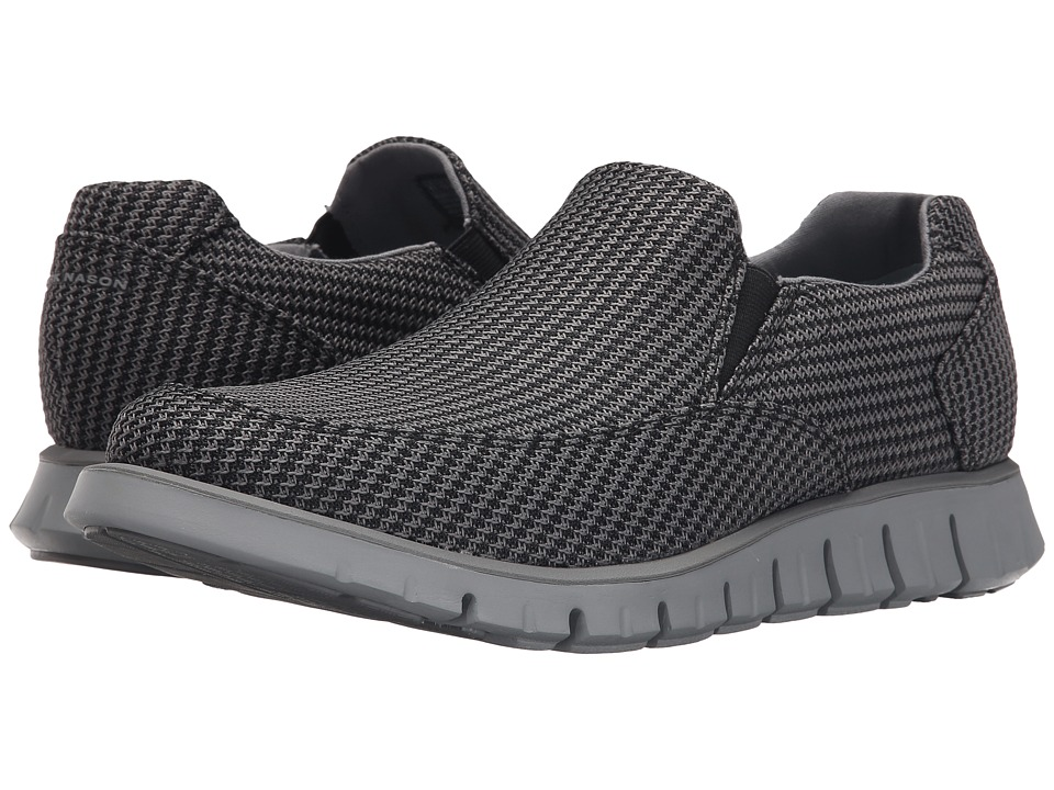 Mark Nason - Wickham (Black Frey/Mesh/Charcoal Pin/Grey Bottom) Men's Slip on Shoes