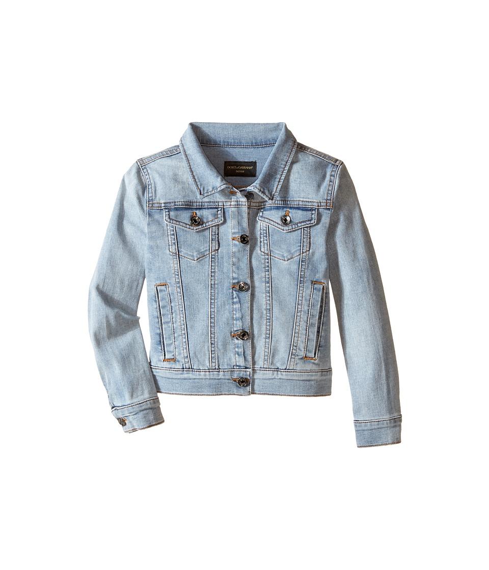 Dolce & Gabbana Kids - Denim Jacket (Toddler/Little Kids) (Clear Blue) Girl's Jacket