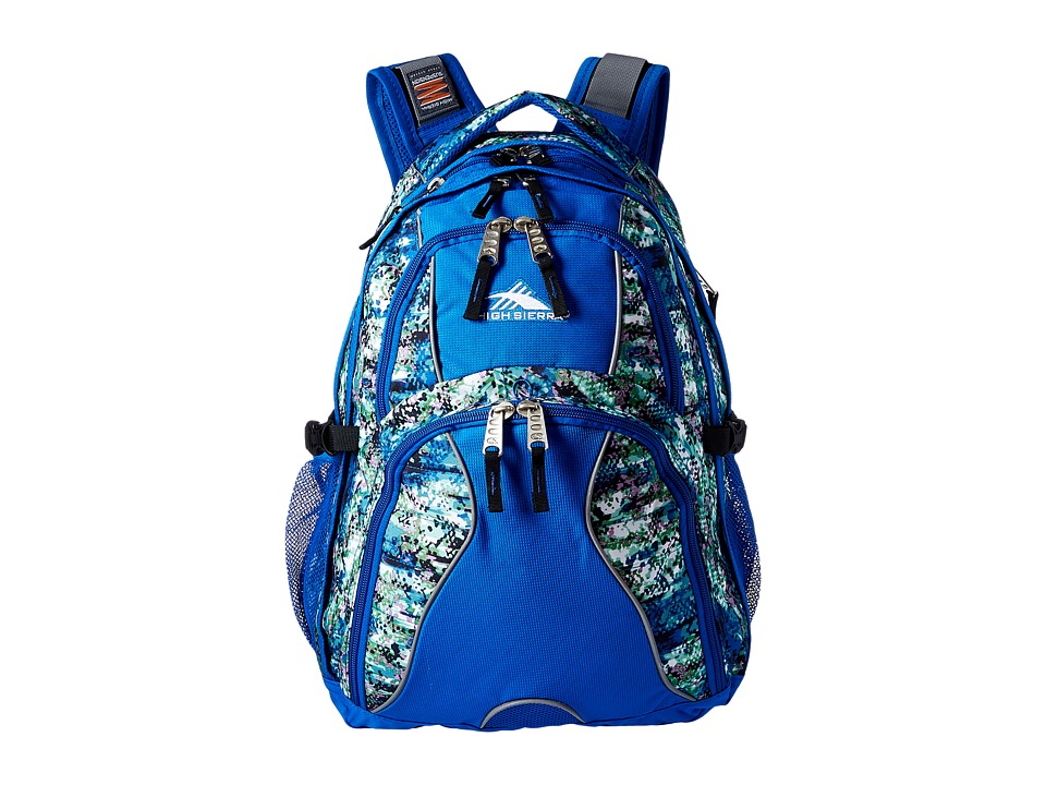 High Sierra - Swerve Backpack (Python/Vivid Blue/Black) Backpack Bags