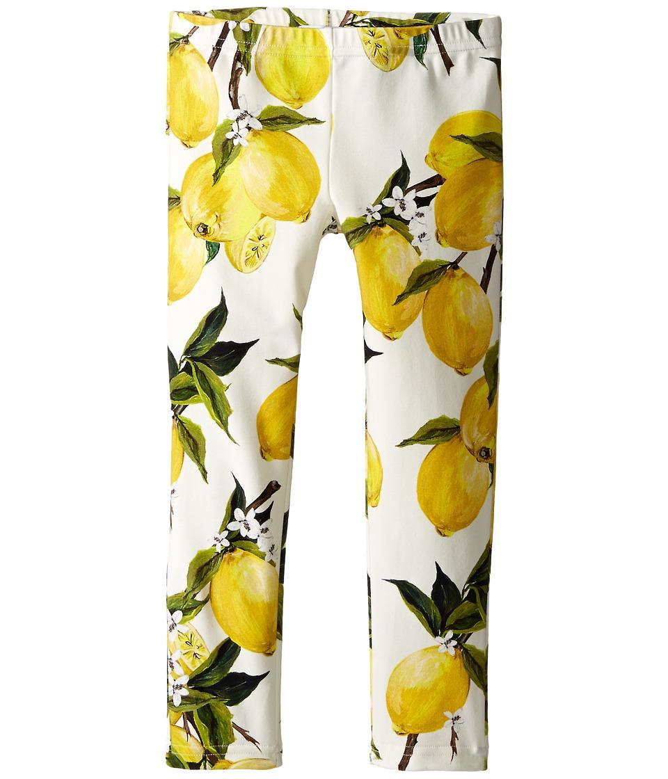 Dolce & Gabbana Kids - Limoni Leggings (Toddler/Little Kids) (White Lemon Print) Girl
