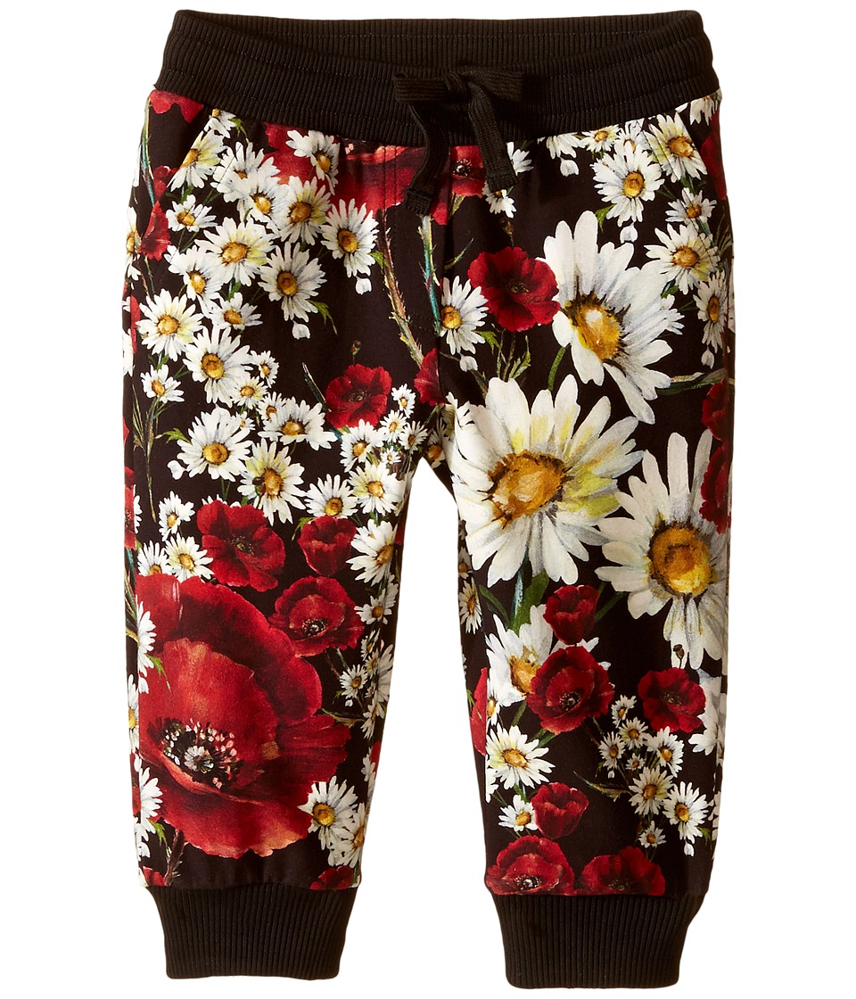 Dolce & Gabbana Kids - Fiori Jogger (Toddler/Little Kids) (Black Flower Print) Girl's Casual Pants