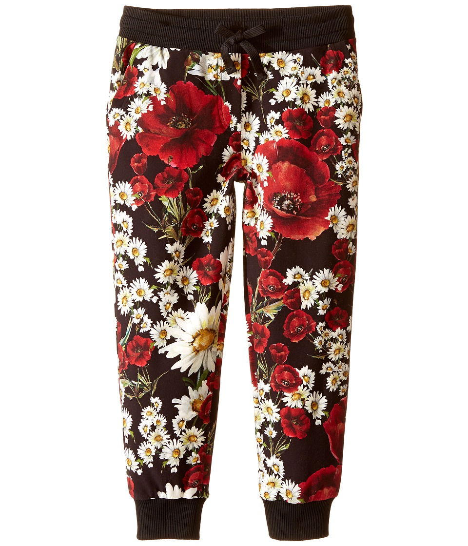 Dolce & Gabbana Kids - Fiori Jogger (Big Kids) (Black Flower Print) Girl's Casual Pants