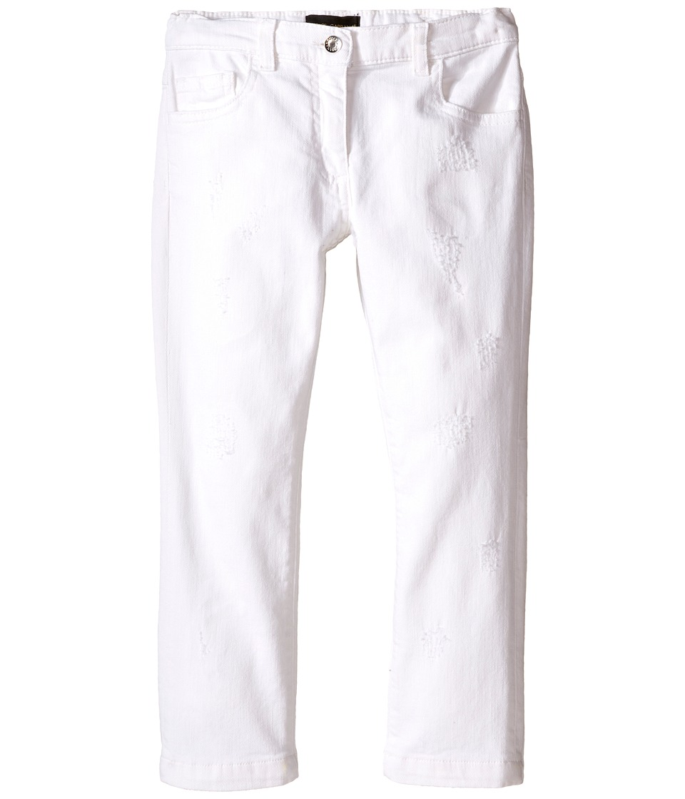 Dolce & Gabbana Kids - Denim Pants in White/Denim (Toddler/Little Kids) (White/Denim) Girl's Jeans
