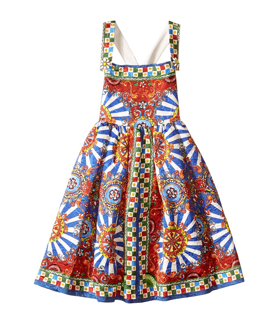 Dolce & Gabbana Kids - Wheel Crisscross Back Dress (Toddler/Little Kids) (Multi Print) Girl's Dress