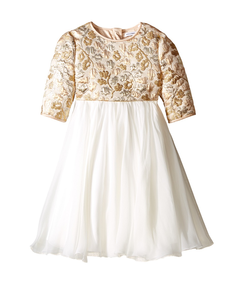 Dolce & Gabbana Kids Floral Broccade Dress
