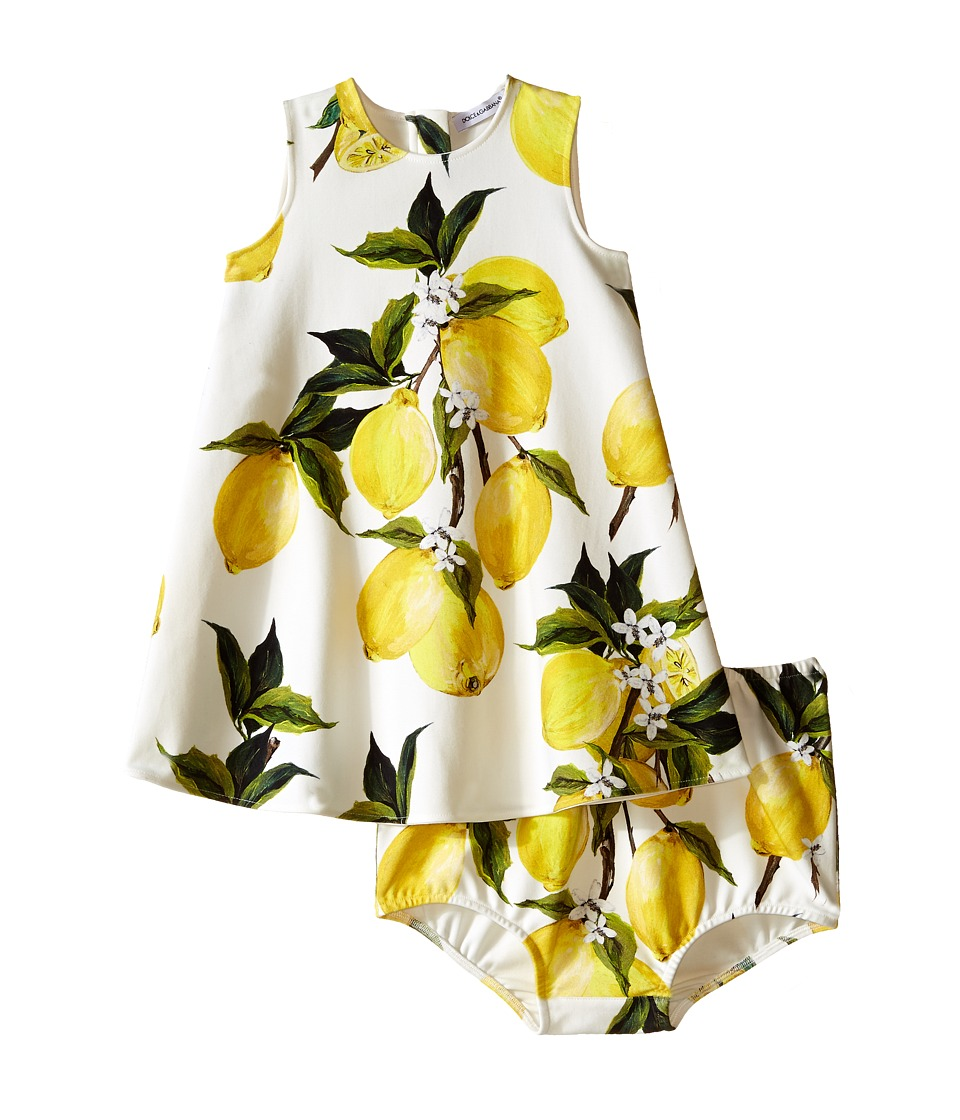 Dolce & Gabbana Kids - Limoni Interlock Dress (Infant) (White/Lemon Print) Girl's Dress