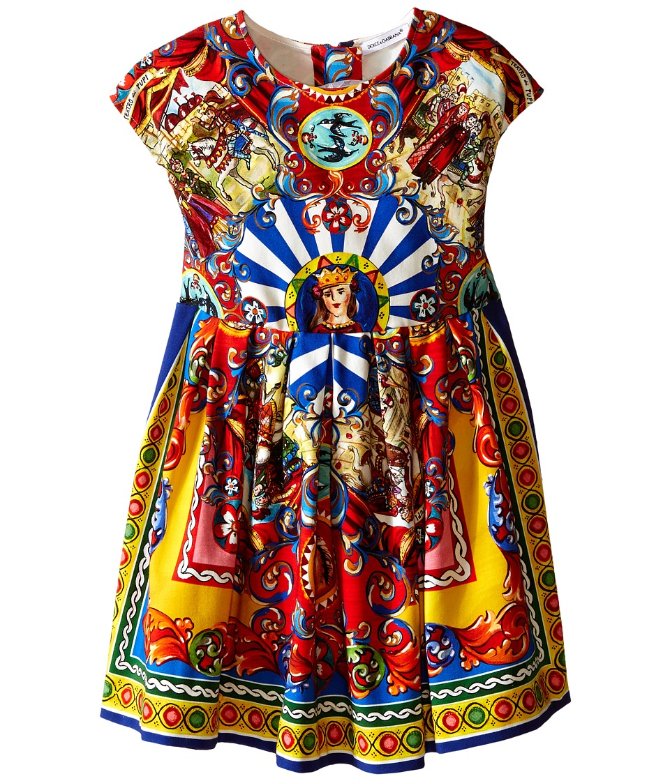 Dolce & Gabbana Kids - Wheel Foulard Dress (Toddler/Little Kids) (Multi Print) Girl's Dress