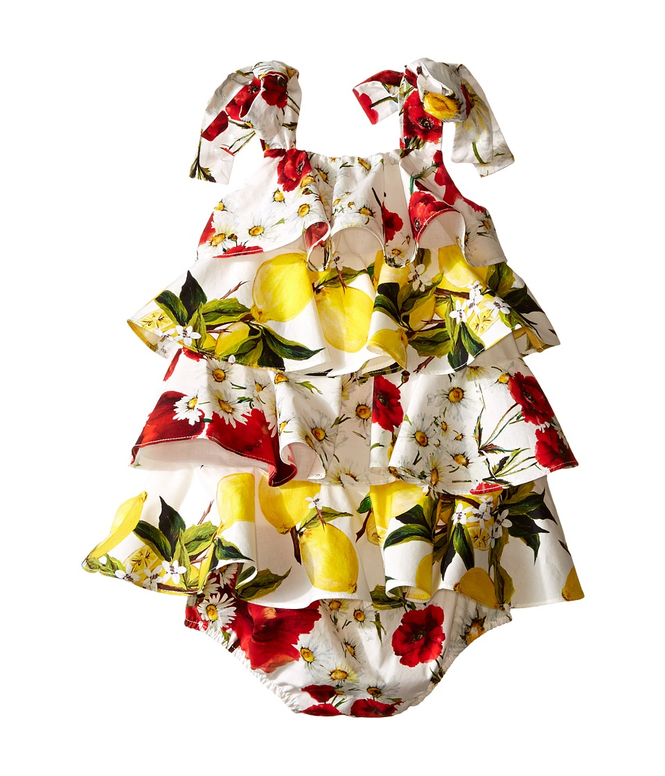 Dolce & Gabbana Kids - Ruffle Fiori Dress (Infant) (White Print) Girl's Dress