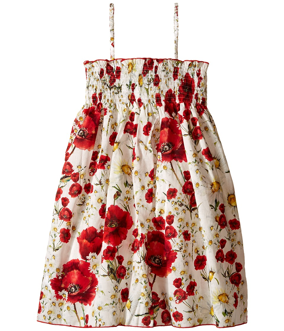 Dolce & Gabbana Kids - Margherite Dress (Toddler/Little Kids) (White Flower Print) Girl's Dress