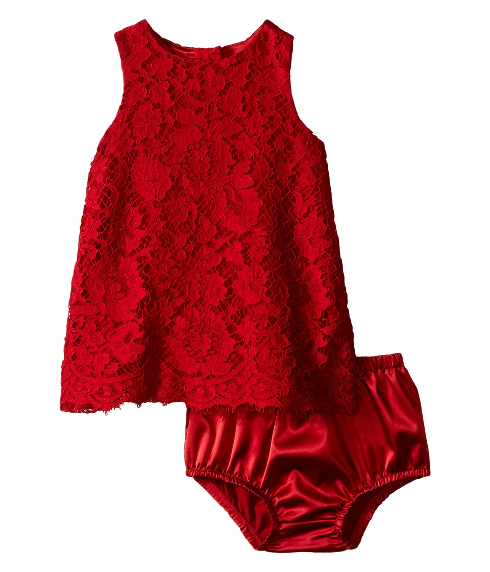 Dolce & Gabbana Kids - Lace Dress (Infant) (Bright Red) Girl's Dress