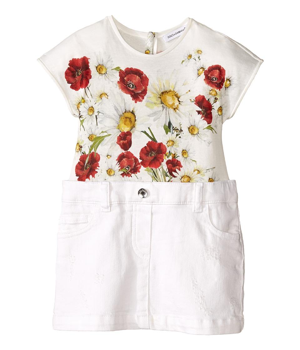 Dolce & Gabbana Kids - Fiori Combo Dress (Infant) (Antique White) Girl's Dress