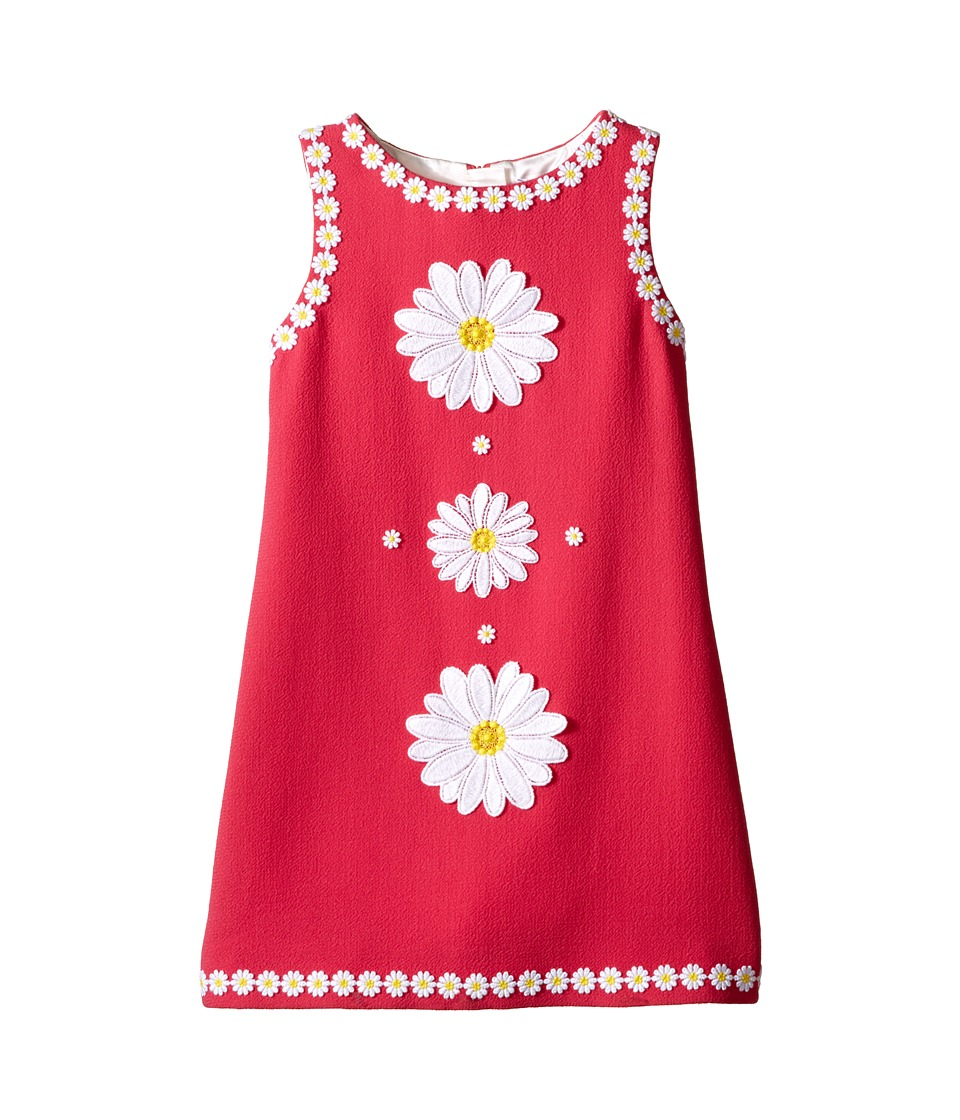 Dolce & Gabbana Kids - Wool Crepe Floral Dress (Big Kids) (Fuchsia) Girl's Dress