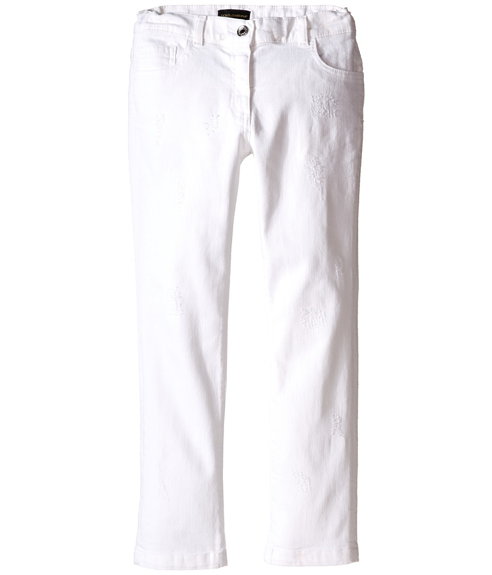 Dolce & Gabbana Kids - Denim Pants in White/Denim (Big Kids) (White/Denim) Girl's Jeans